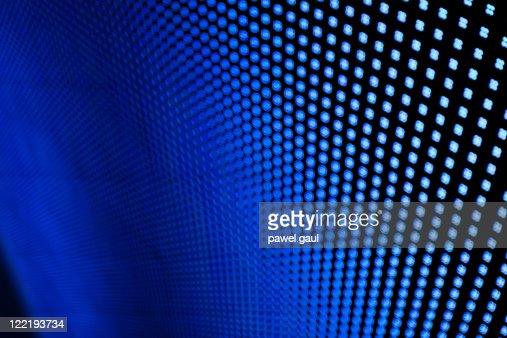 Blue LED lights.