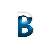 A creative image of a blue coloured letter 'B' with a white wave pattern overlay. Created using Adobe Photoshop - with the other letters in the set, it is perfect to create fantastic logos and bold wo