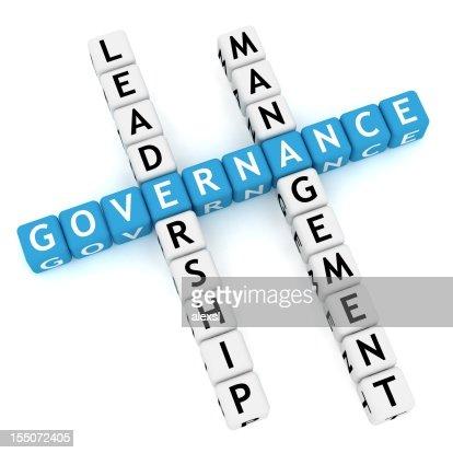 Blue letters spell governance in crossword