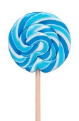 Blue  Lollipop isolated on white