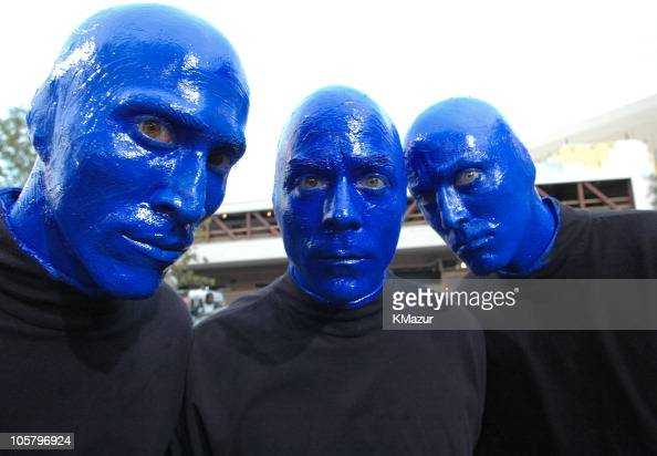 Blue Man Group during 2005 Billboard Music Awards Red Carpet at MGM Grand in Las Vegas Nevada United States