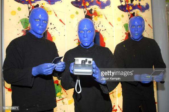 Blue Man Group during Blue Man Group Celebrates the Launch of Swatch Blue August 17 2006 at Swatch Times Square in New York City New York United...