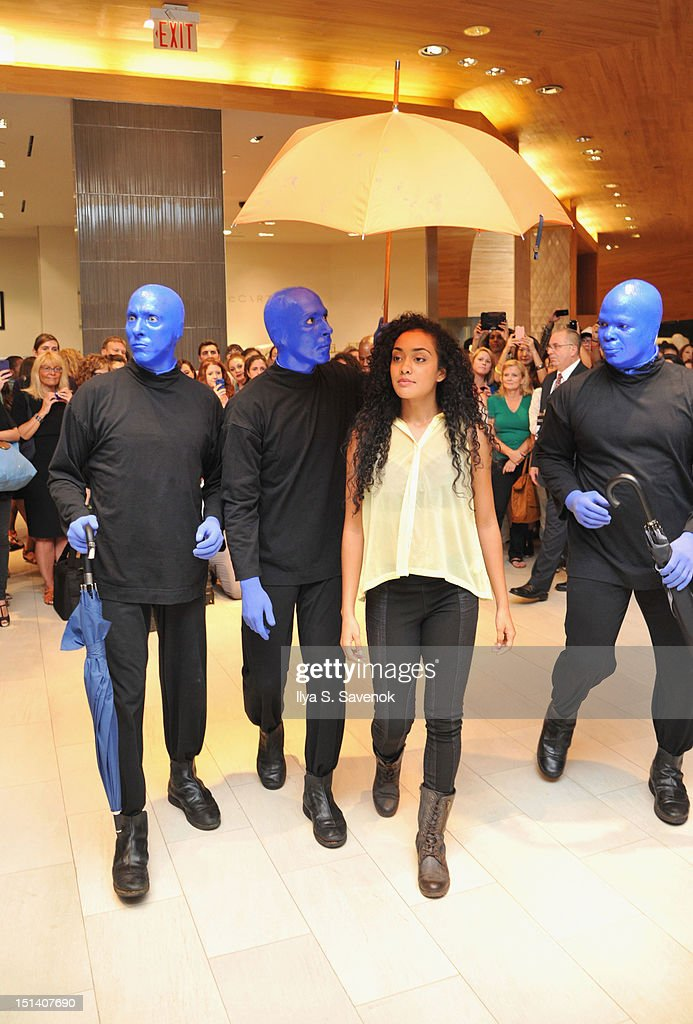 Blue Man Group performs at Fashion's Night Out at Saks Fifth Avenue on September 6, 2012 in New York City.