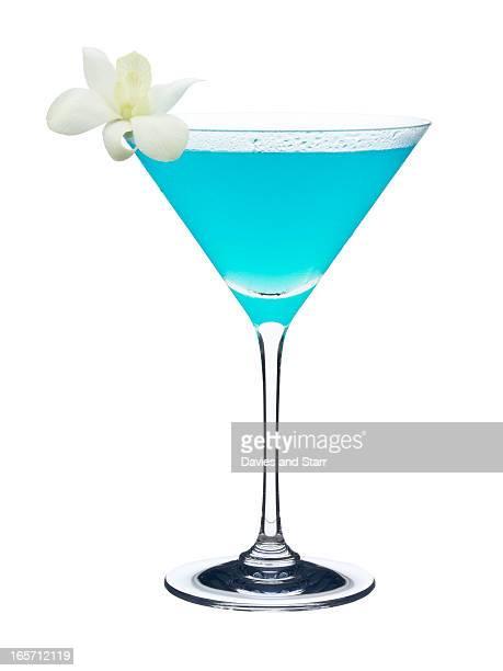 Blue Martini in Glass