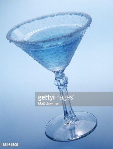 Blue martini : Stock Photo