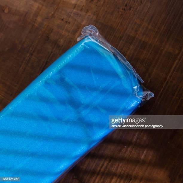 Blue marzipan.