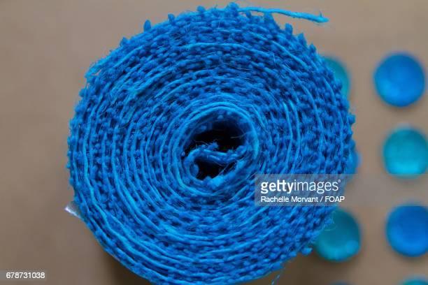 Blue mesh ribbon