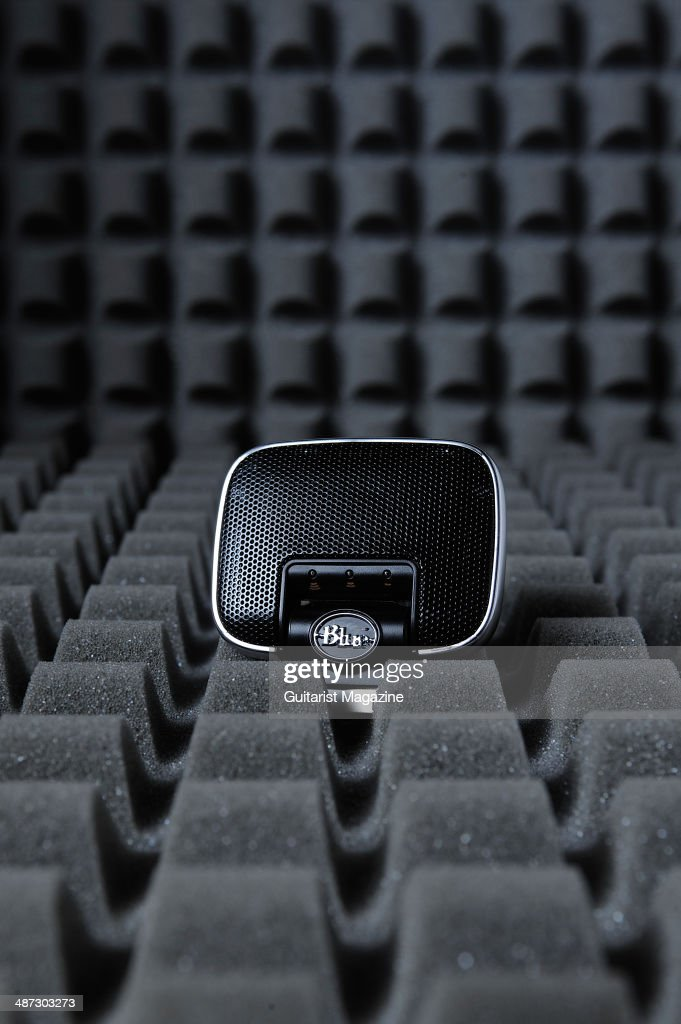 A Blue Microphones Mikey Digital portable stereo recorder photographed on a layer of acoustic foam taken on September 13 2013
