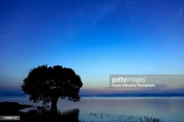 Blue moment in Lake Biwa