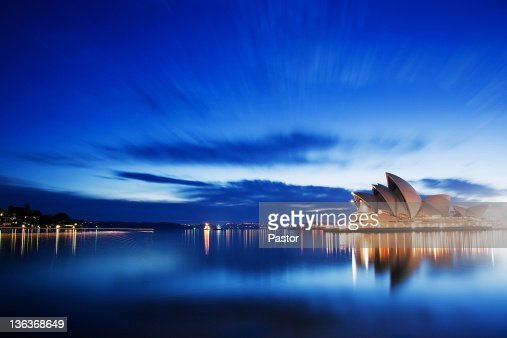 Blue morning at Sydney Opera House