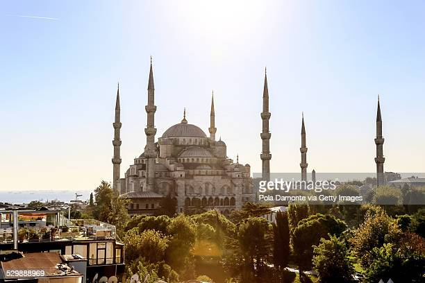 Blue Mosque and minarets in Istanbul, Turkey