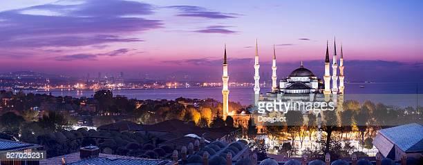 Blaue Moschee in Istanbul, Türkei in der Nacht