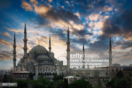 Blue mosque sunrise