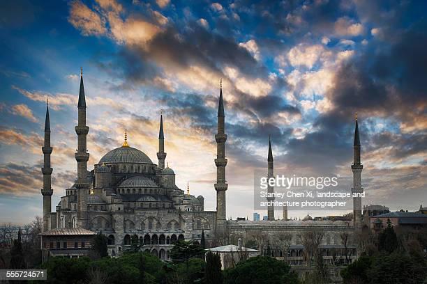 Blue mosque sunrise