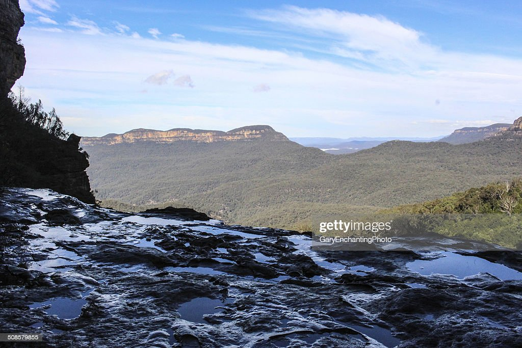 Blue mountain cliff : Stock Photo