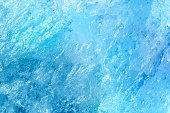 Blue texture of mountain crystal. Macro photo.