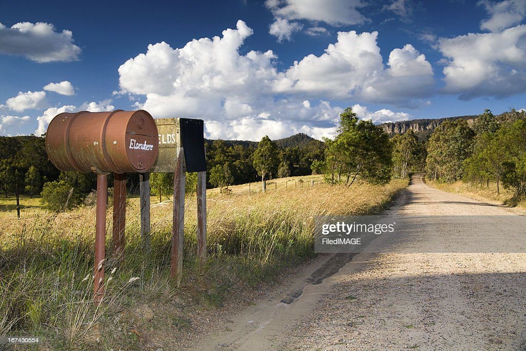 Blue Mountains Letter Boxes : Stock Photo