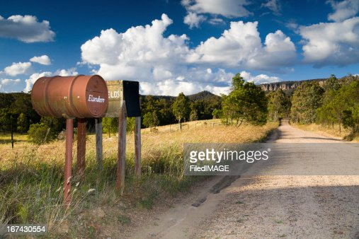 Blue Mountains Letter Boxes : Stock Photo
