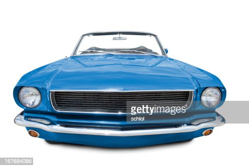 blue mustang convertible 1966 stock photo getty images. Black Bedroom Furniture Sets. Home Design Ideas