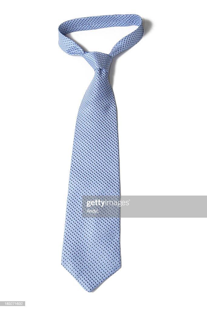 Blue Necktie on White