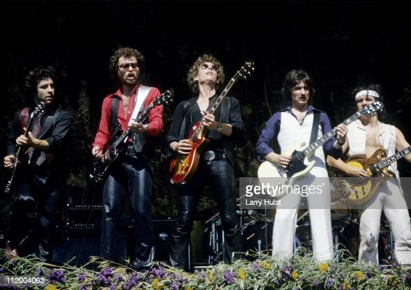 Buck Darma and Joe Bouchard along with Blue Oyster Cult perform at the Oakland Coliseum in Oakland California on Sept 2 1978 OAKLAND July 4 Blue...