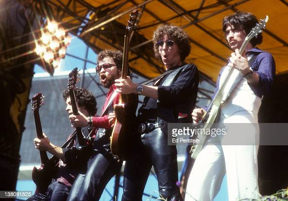 Blue Oyster Cult performs at Oakland Stadium in September 1978 in Oakland California