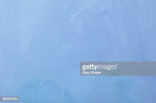 Blue painted backdrop : Stock Photo