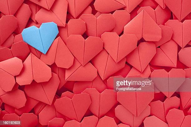 Blauem Papier Herz