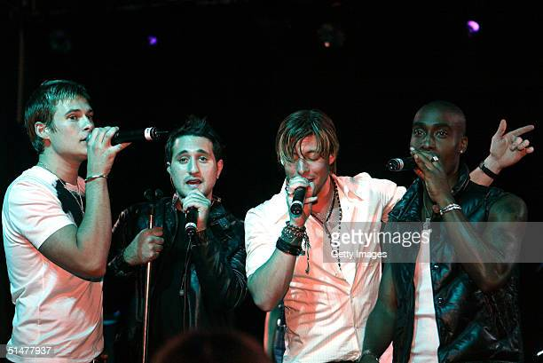 Blue performs tracks from their newlylaunched greatest hits album 'Best of Blue' at the Scala Electric Cinema on October 13 2004 in London