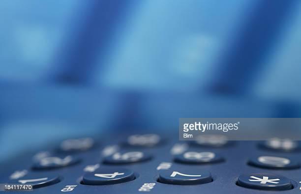 Blue-Tastatur im Business-Center