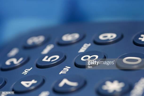 Azul número de teléfono de almohadilla