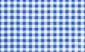 Blue picnic cloth pattern wallpaper background.Kitchen menu backdrop.Retro fabric surface transparent.