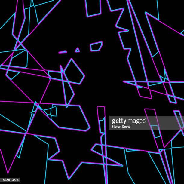 Blue Pink Neon pattern