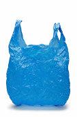 Blue plastic bag