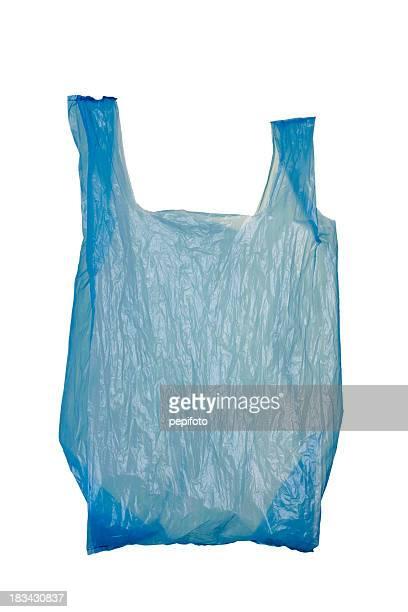 Bleu Sac en plastique