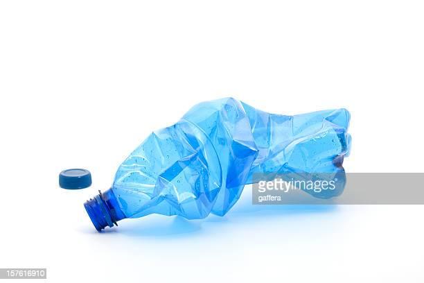 blue plastic bottle