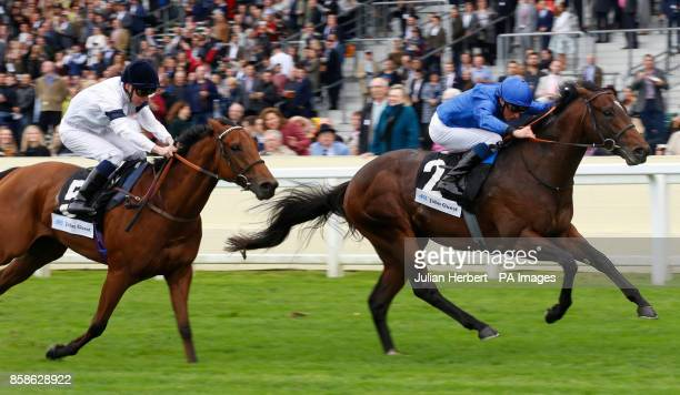 Blue Point ridden by William Buick leads Projection ridden by Kieran Shoemark to win The John Gust Bengough Stakes Race run at Ascot Racecourse