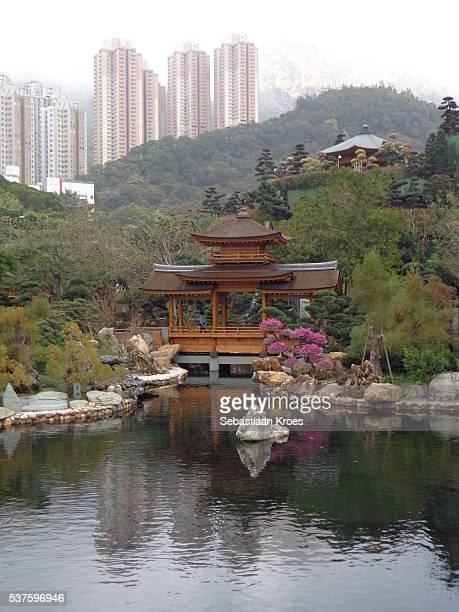 Blue Pond at Nan Lian Garden, Hong Kong, China