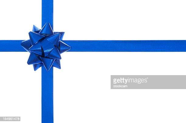 Arc et ruban cadeau bleu