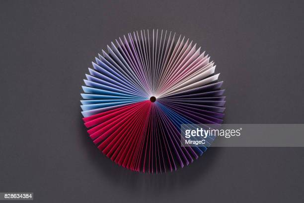 Blue Purple Colored Book Pages Pie Chart