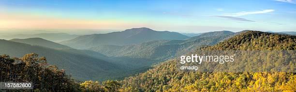Blue Ridge Mountains in Early Morning Panorama
