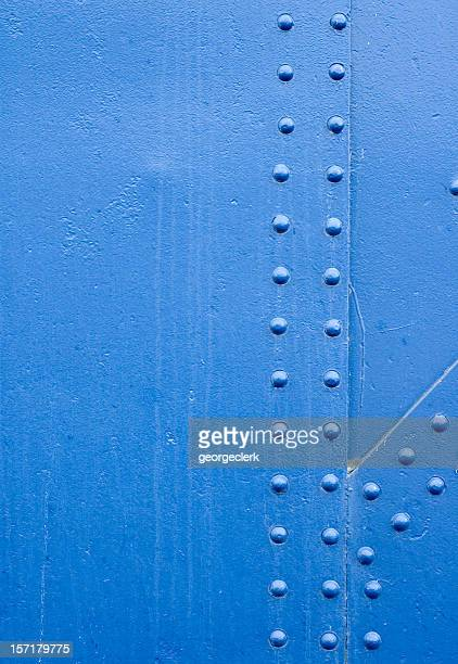 Blue Rivet Grunge Background