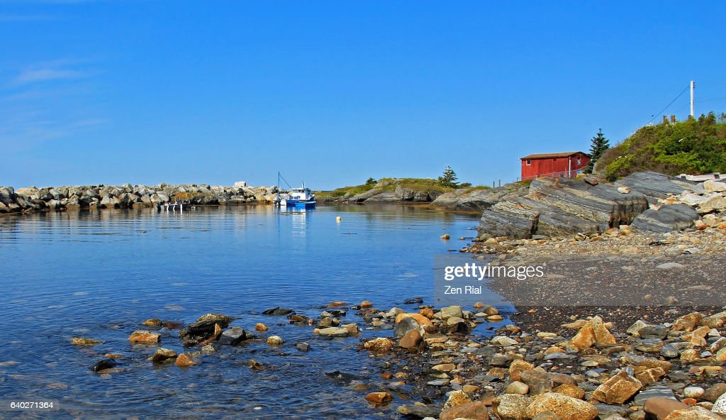 Blue Rocks landscape in Nova Scotia, Canada : Stock Photo