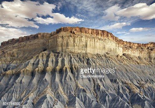 blue rocky cliff in Utah : Stock Photo