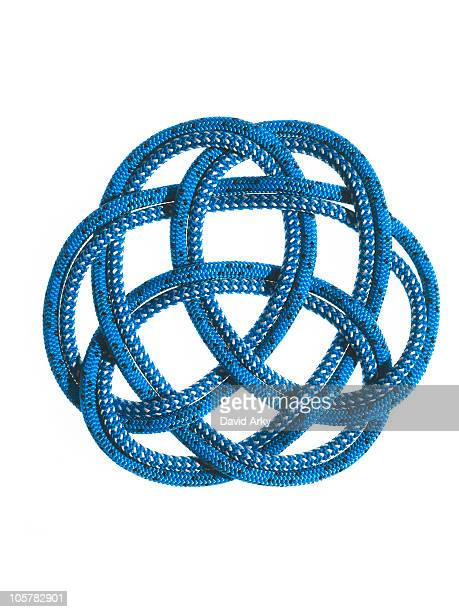 Blue rope looped together