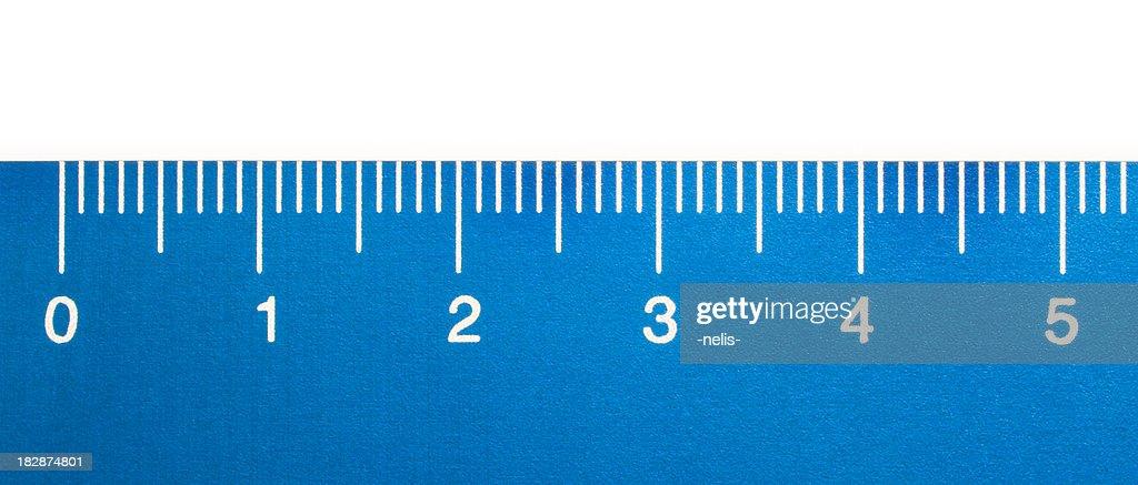 blue ruler close-up