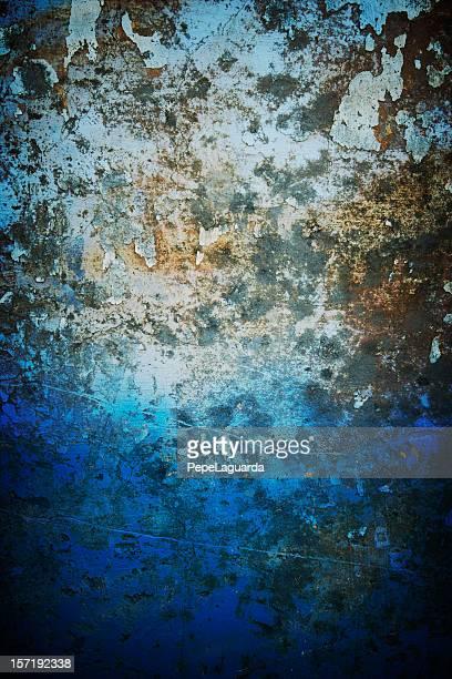 Blue rusty wall
