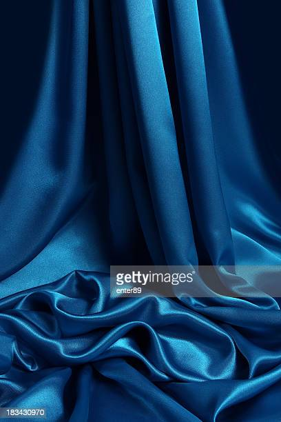 Bleu fond en satin