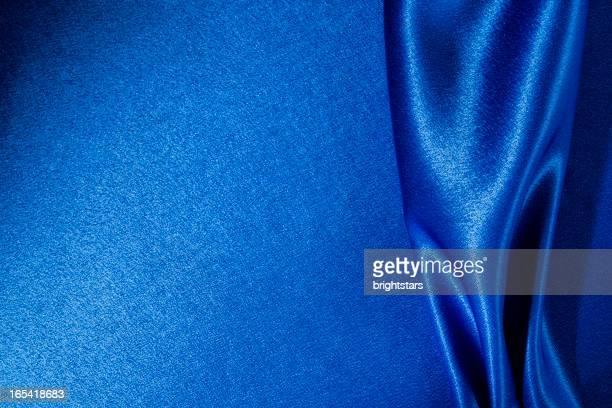 ブルーのサテン