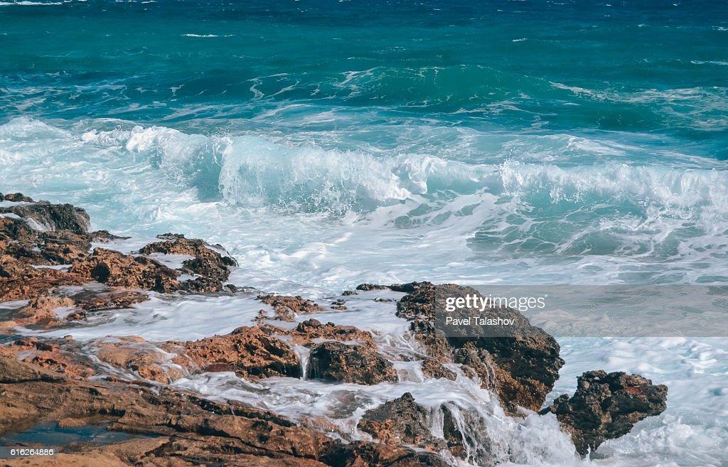 blue sea of Cyprus : Stock Photo